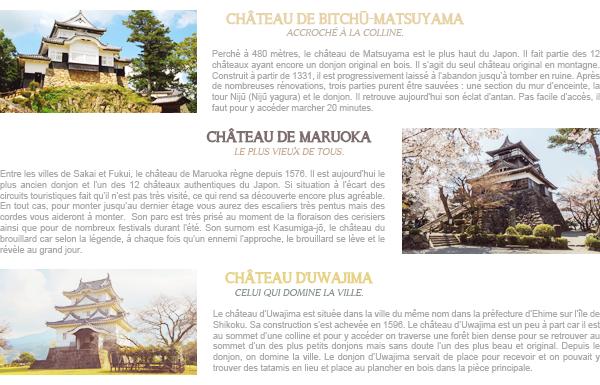 Châteaux authentiques au Japon