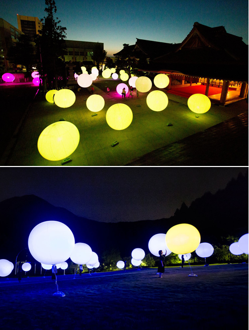Festival des Lumières - Resonating Spheres.