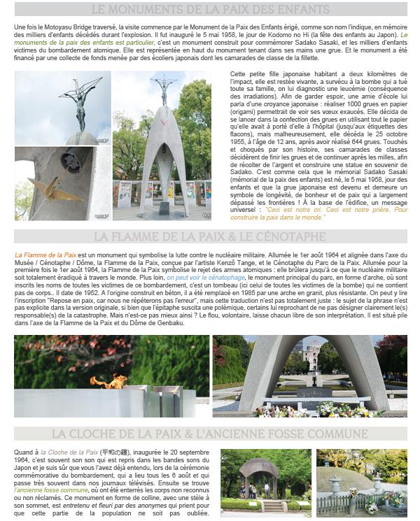 Hiroshima I - Le Parc du Mémorial de la Paix d'Hiroshima.