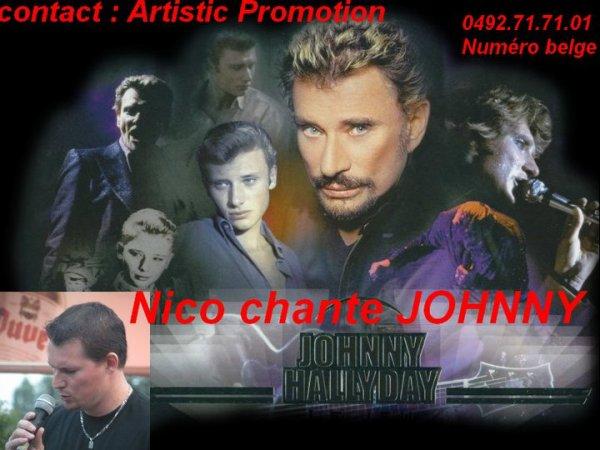 "nico ""chante johnny "" (partners )avec artistic-promotion 0492.71.71.01"