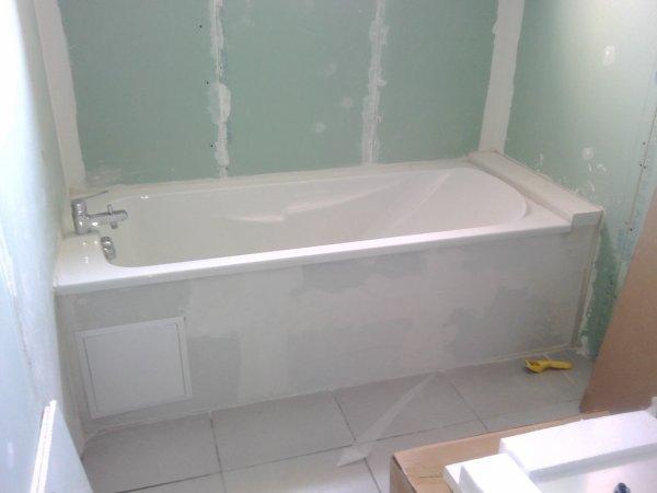 Installation de la baignoire