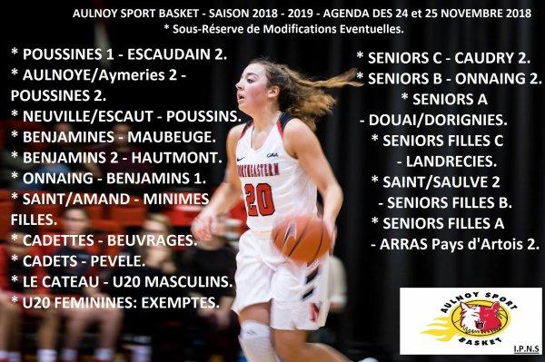 AGENDA DES 24 et 25 NOVEMBRE 2018