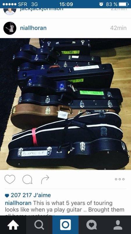 Les guitares de Niall mdrrr