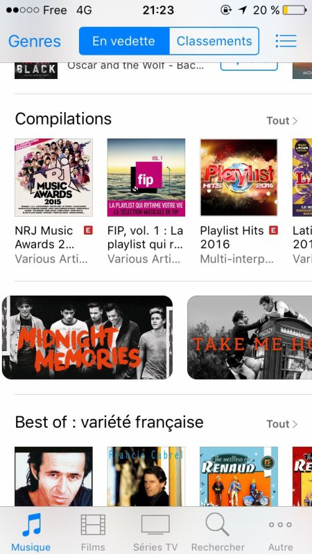 iTunes One direction *•*