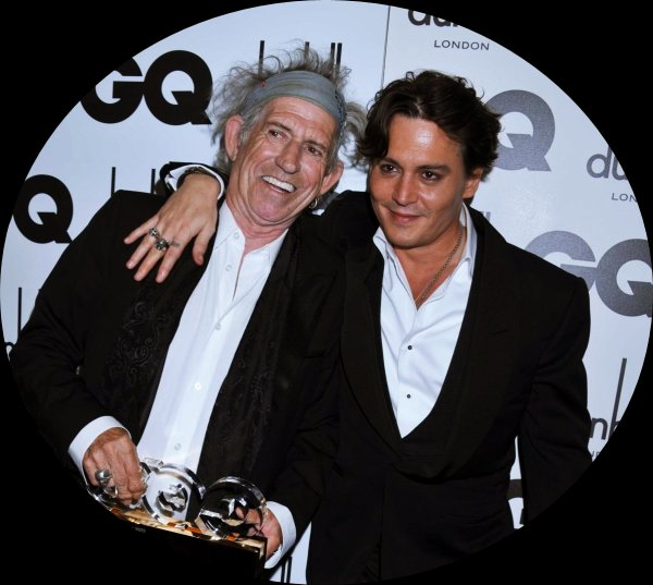 Johnny Depp and Keith Richards the winner of the GQ writer award