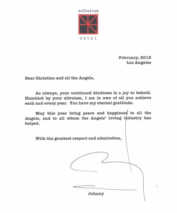 A new letter for Johnny's Angels, Johnny Depp as always so greatful and adorable