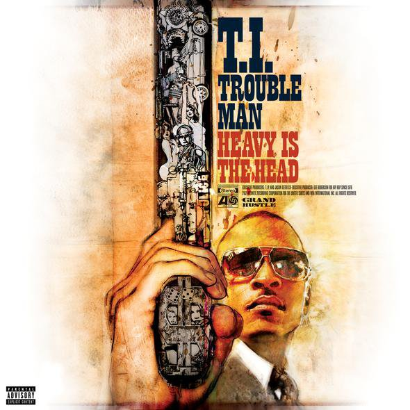 T.I. Trouble Man cover  tracklist & B.o.B Birthday Listenning Party