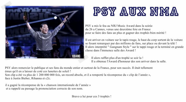 PSY aux NMA ~