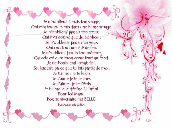 Bon anniversaire Manu ................Le 13 Avril 2016