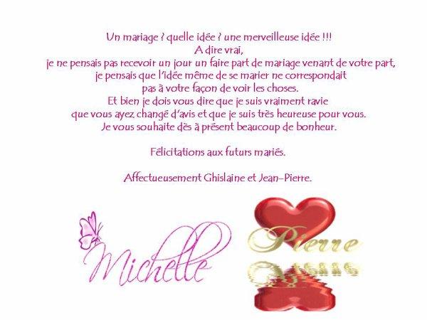 Michèle et Pierre pour la vie ........................
