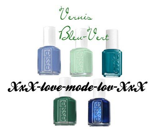 Vernis Bleu-Vert