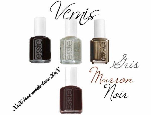 Vernis Noir-Marron-Gris