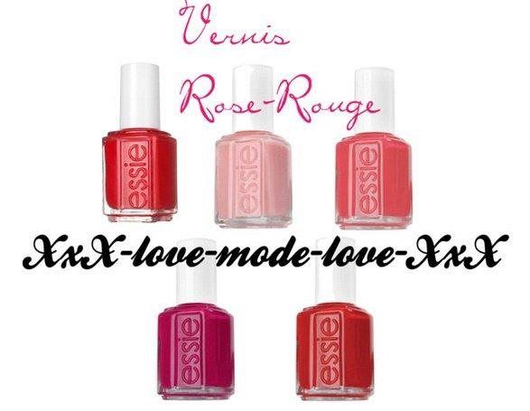 Vernis Rouge-Rose