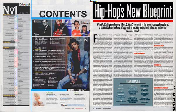 Dans le numéro de cette semaine du magazine Billboard, ils prennent un regard plus profond à l'intérieur de carrière de rap Wiz !!!