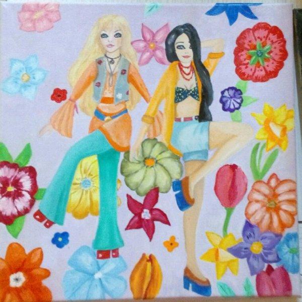 Une toile hippie