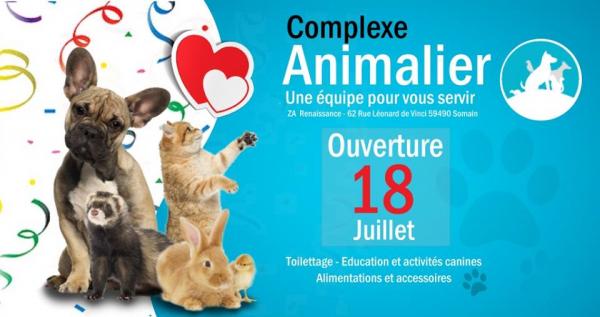 ouverture complexe animalier somain 59490