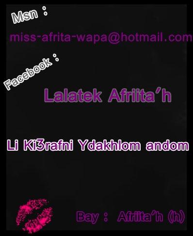 Lii  Ki3rafnii  YdakhL Msn , Ou  FaceBoOk :)