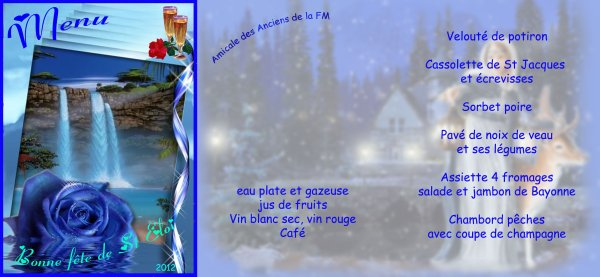 Le menu de St Eloi 2012
