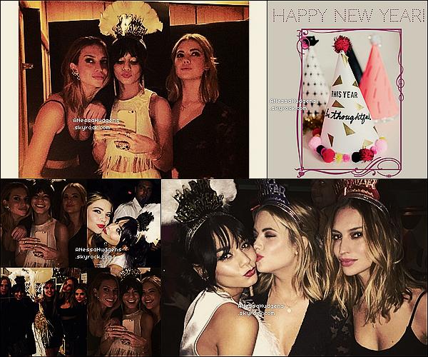 """. 31.12.14.PHOTOS PERSO. Vanessa à fêter la Saint-Sylvestre """"31 décembre"""" avec ses amies dontAshley Bensonet Hester Houstonqui l'on rejoint. ."""
