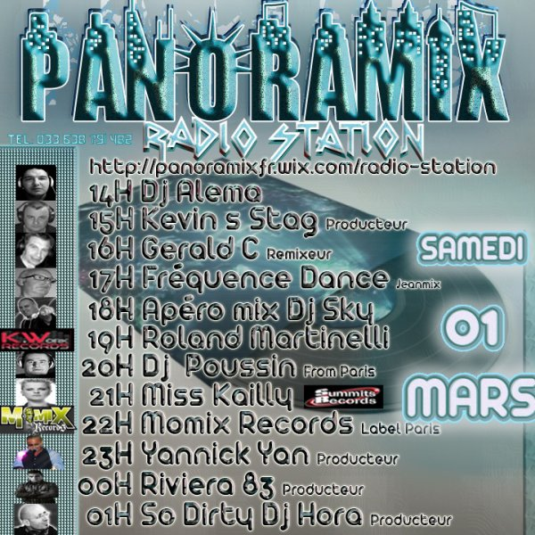 INTERNATIONAL DJ S SHOW SAMEDI 01 MARS @ PANORAMIX RADIO STATION
