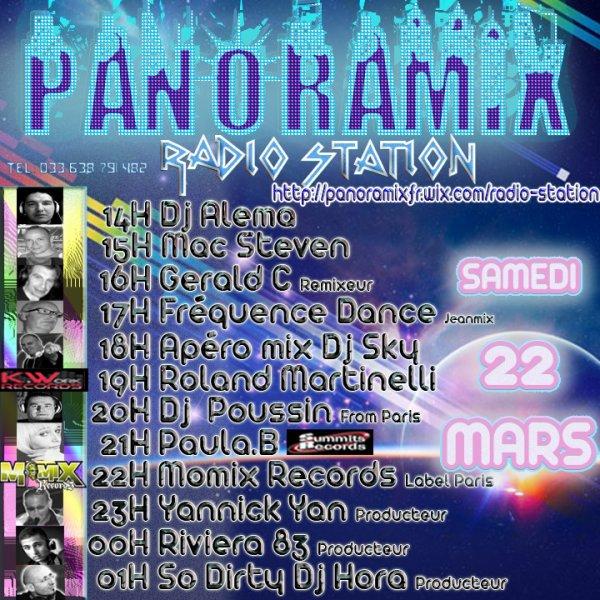 PANORAMIX RADIO STATION L INTERNATIONAL  DJ S SHOW 14h A 06H du mat