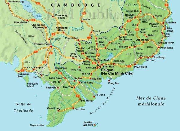 carte sud vietnam partie 2