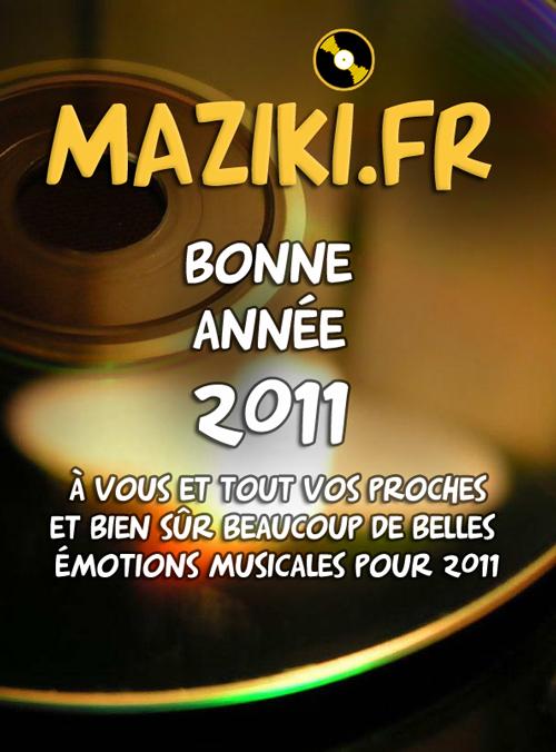 Je vous souhaite une très bonne année 2011 …