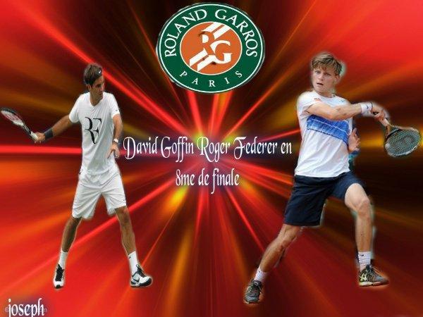 David Goffin vs Roger Federer en 8ème de finale