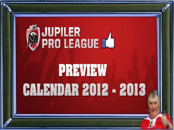 Calendrier 2012-2013 Jupiler Pro League