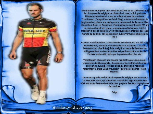 le titre de Champion de Belgique 2012