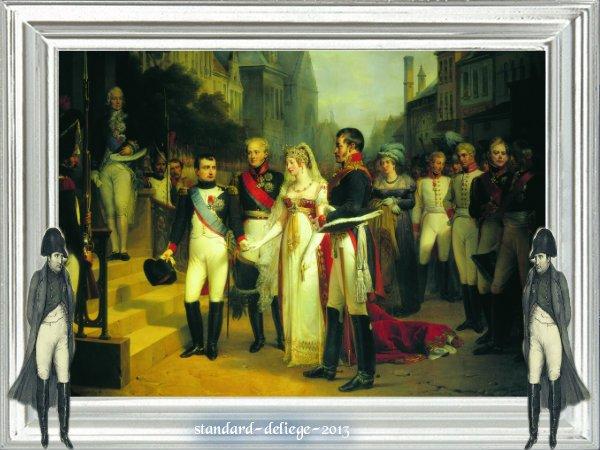 Napoléon reçoit la reine Louise de Prusse à Tilsit, 6 juillet 1807