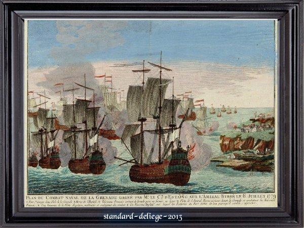 Combat naval devant la Grenade 6 juillet 1779 victoire de d Estaing