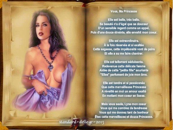 Poème d'Amour vous ma princesse