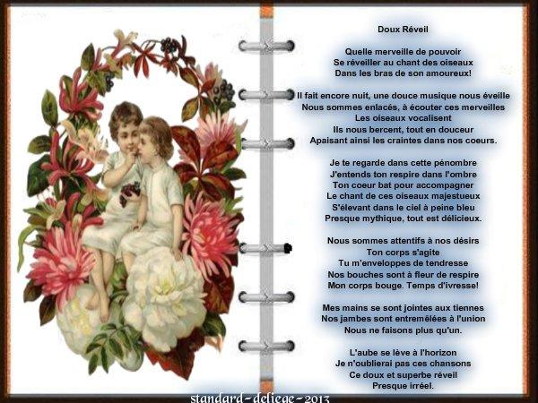 Poème d'Amour  doux réveil