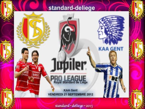 Royal Standard de Liège KAA Gent 8journee JUPILER PRO LEAGUE VENDREDI 21 SEPTEMBRE 2012