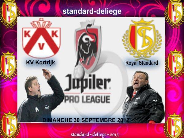 KV Kortrijk Royal Standard de Liège JUPILER PRO LEAGUE DIMANCHE 30 SEPTEMBRE 2012