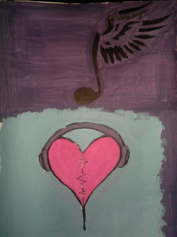 Peinture pour fan de musique <3