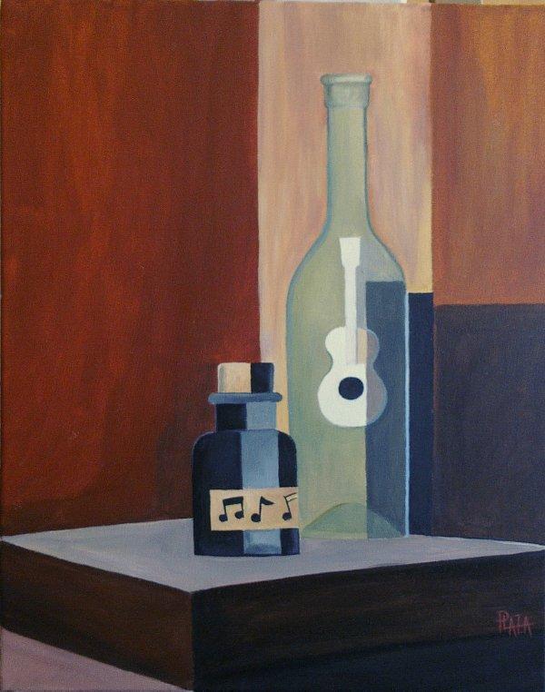 elixir musical  peinture acrylique sur toile