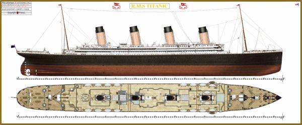 Mise à jour de mon plan RMS Titanic( 20 Avril 2011).