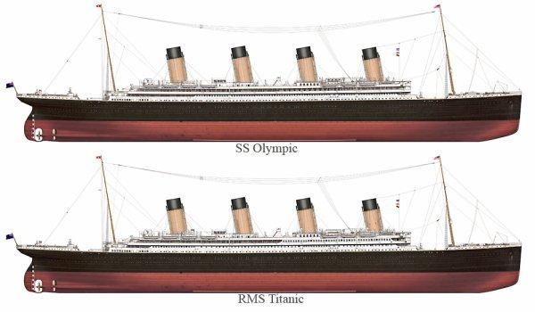 Les différences entre le SS Olympic et le RMS Titanic.