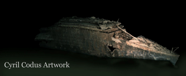 Artwork Titanic wreck.