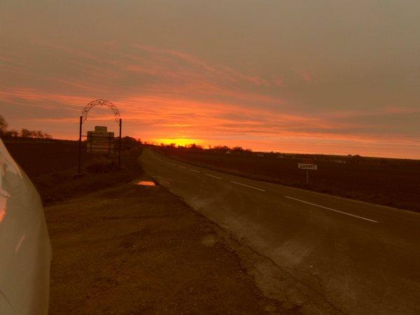 le ciel ce matin dans nos ardennes