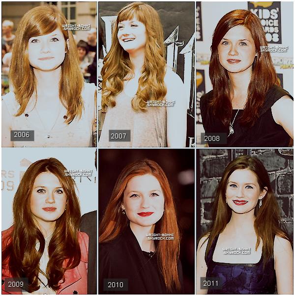 . L'évolution de Bonnie au cours de ces six dernières années. Laquelle préférez-vous ? .