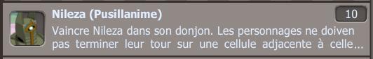 Donjons comte fini, succés nileza