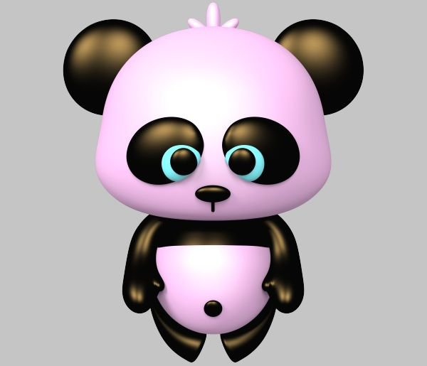 Pandas roses