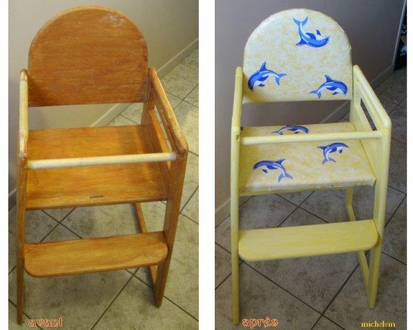 reloocking d'une chaise haute pour enfant