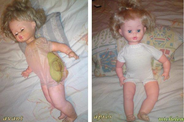Réparation d'une poupée de la marque Toyse