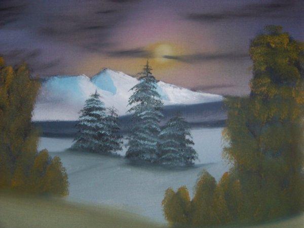 mes tableaux, peints à la peinture à l'huile