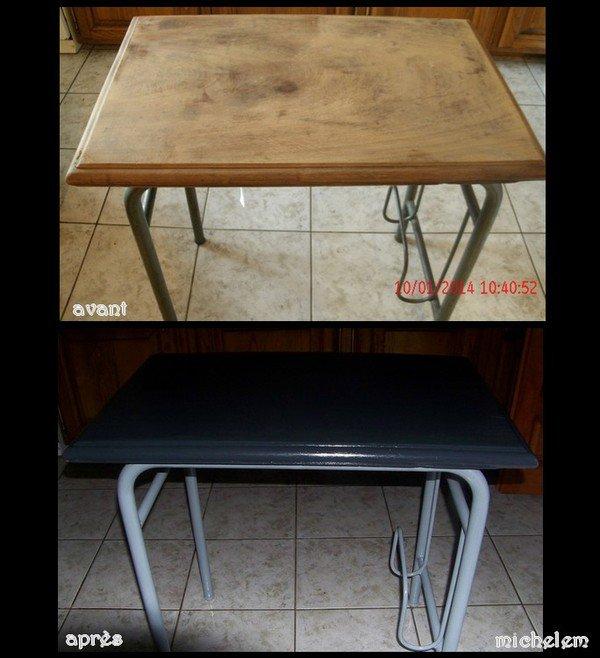 bureau d'école et table basse pour mon fils