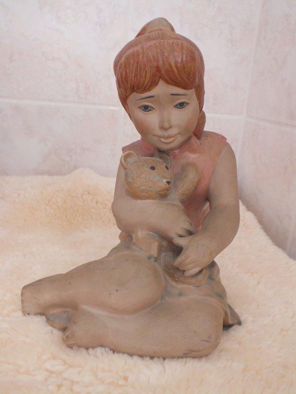 relooking d'une statuette en plâtre